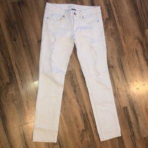 White skinny jeans 6 short
